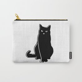 Cat Black Silhouette Pet Animal Cool Style Carry-All Pouch
