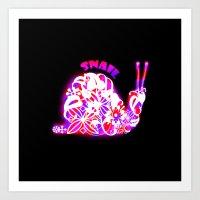 snail Art Prints featuring Snail by VirgoSpice