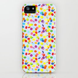 Festive confetti pattern iPhone Case