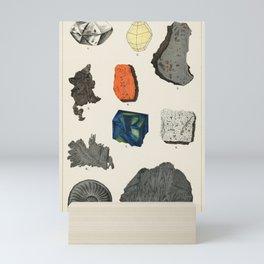 Geology Lover Print - Gemstones Illustration Mini Art Print