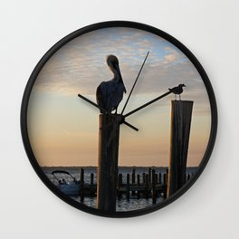 Duplicitous Characters III Wall Clock