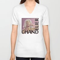 chandelier V-neck T-shirts featuring Chandelier (sketch) by rnlaing