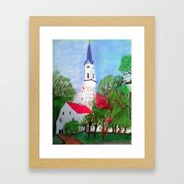 Kirche von Ergolding Framed Art Print