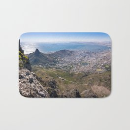 View of Cape Town from Table Mountain in South Africa Bath Mat