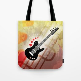 A Guitar for a Love Serenade Tote Bag