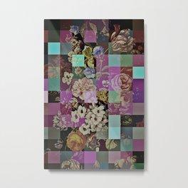Floral quilt Metal Print