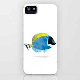 Geometric Abstract Powder Blue Tang Fish iPhone Case
