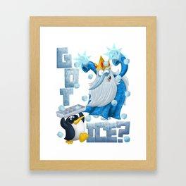 Got Ice? Framed Art Print