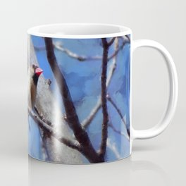 Female Cardinal Flirting Coffee Mug