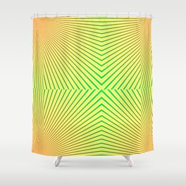 Stripes 5 b LeslieHalw Shower Curtain