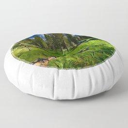 Yellowstone meadow Floor Pillow