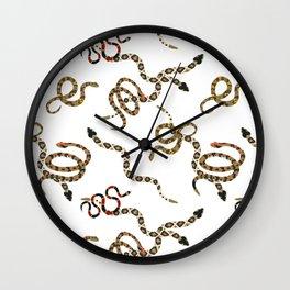 Coastal Snakes Wall Clock
