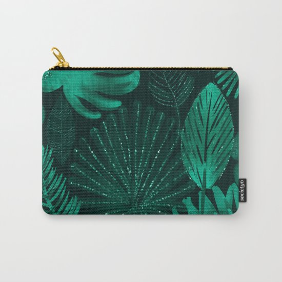Emerald botanical - tropical ferns and palms Carry-All Pouch