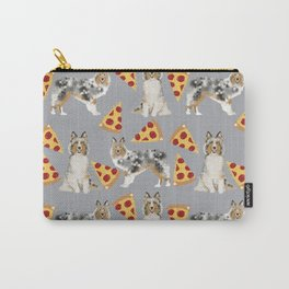 Sheltie shetland sheepdog pizza slices cheese pizzas dog breed pet friendly custom dogs Carry-All Pouch