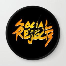 Social Rejects Wall Clock