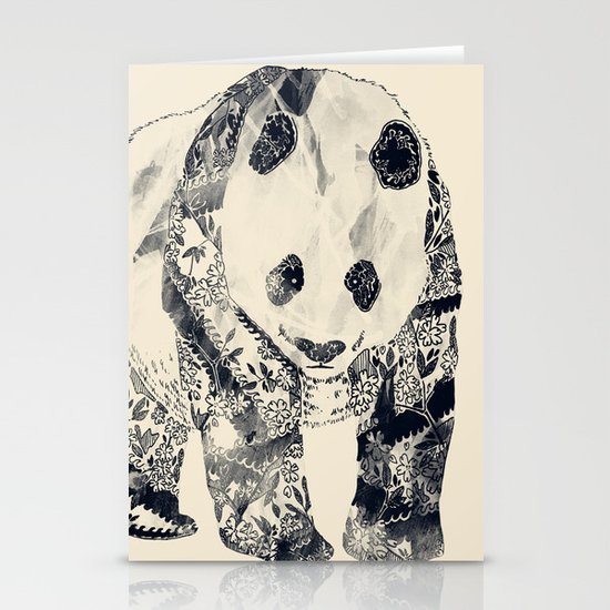 Tattooed Panda {cream} Stationery Cards