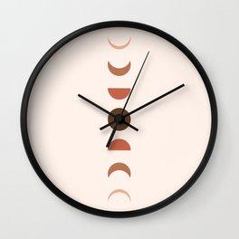 Pastel Minimal Moon Wall Clock