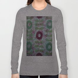 Zinnias in Purple and Green Long Sleeve T-shirt