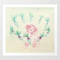 Natasha Shy Art Print