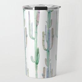 Arizona Wilderness Cactus Pattern Travel Mug