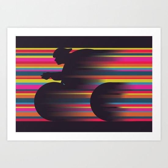 Olympic Cyclist Art Print