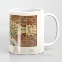 The Mall, Washington D.C. Map (1915) Coffee Mug