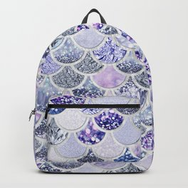 Purple and Ultra Violet Trendy Glitter Mermaid Scales Backpack