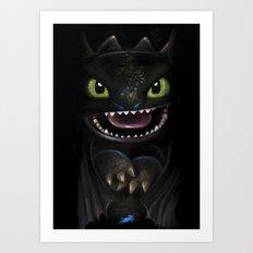 Night Fury Art Print