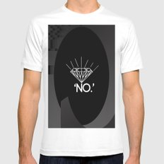 No. Mens Fitted Tee White MEDIUM