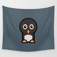 penguin Wall Tapestries featuring Penguin by mrninja13