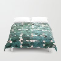 emerald Duvet Covers featuring Emerald  by ixbalanque