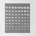 All Dogs (Grey/White) by erinreadesign