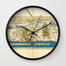Vintage Map Print - L. Holle - 1482 Ulm Sanuto-Vesconte Map of the Holy Land Wall Clock