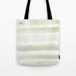 Modern mint green white watercolor brushstrokes stripes Tote Bag