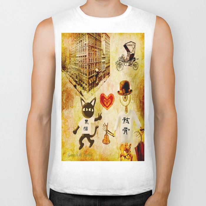 Monsieur Bone,Whim et la cloche Biker Tank