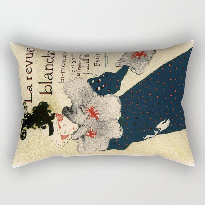 Belle Epoque vintage poster, La Revue Blanche Rectangular Pillow