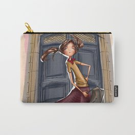 Fashion girl in Paris. Going to walk Carry-All Pouch