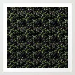 Black Olives Pattern Art Print