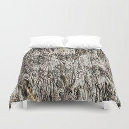 Grey Bark Duvet Cover