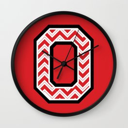 "Chevron Block ""O"" Wall Clock"