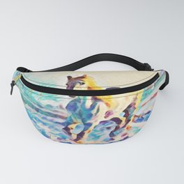 I Dreamt A White Horse In Winter | Painting Fanny Pack