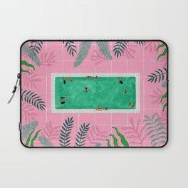 Pink riad pool Laptop Sleeve