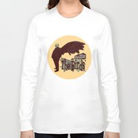 hitchcock Long Sleeve T-shirts featuring Alfred Hitchcock  |  The Birds by Silvio Ledbetter