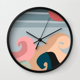 sun and waves Wall Clock