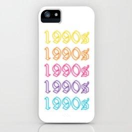 neon 1990s glow iPhone Case