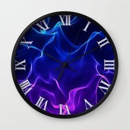 Elegant Abstract Waves -blue and purple- Wall Clock