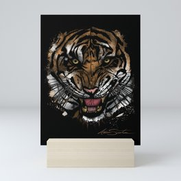Tiger Face (Signature Design) Mini Art Print