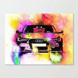 A6 Avant Watercolor Canvas Print