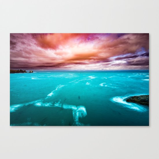 Fire and Water Sea Canvas Print