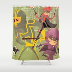 kick ass fan art 2 Shower Curtain